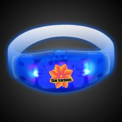Sound Activated Blue LED Stretchy Bangle Bracelet