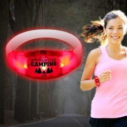 Sound Activated Red LED Stretchy Bangle Bracelet