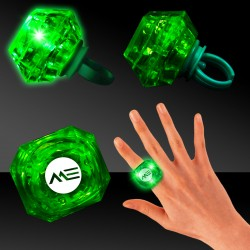 Green Light Up Diamond Rings