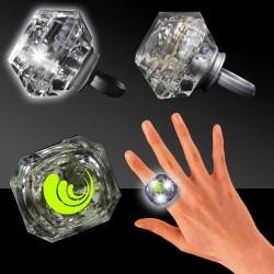 Clear Light Up Diamond Rings