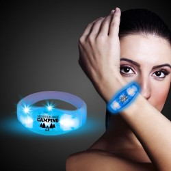 Blue LED Stretchy Bangle Bracelets