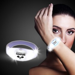 White LED Stretchy Bangle Bracelets