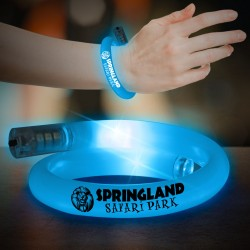 Blue Flashing Coil Tube Bracelet