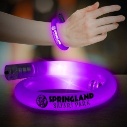 Purple Flashing Coil Tube Bracelet