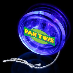 "2"" Clear with Blue LED Yoyo"