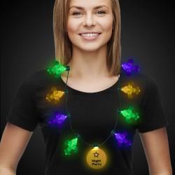 Mardi Gras Fleur De Lis LED Necklace