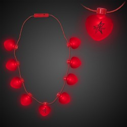 Red Heart LED Necklace