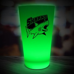 Green LED Pint Glass