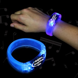 Blue Sound Activated LED Bangle Bracelets