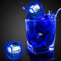Blue Imprinted Liquid Activated Light Up Ice Cubes