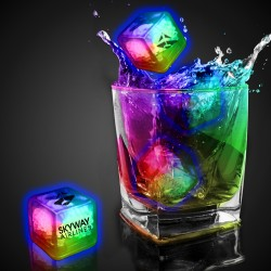 Rainbow Imprinted Liquid Activated Light Up Ice Cubes