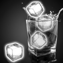 Blank White Liquid Activated Light Up Ice Cubes