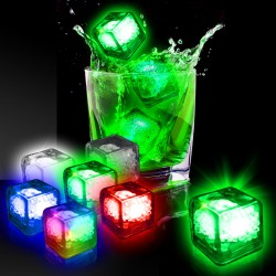 Blank Liquid Activated Light Up Ice Cubes- Variety of Colors