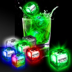 Imprinted Liquid Activated Light Up Ice Cubes - Variety of Colors