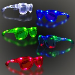 LED Classic Retro Sunglasses with Sound Option - Variety of Colors