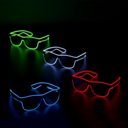 Sound Activated LED EL Sunglasses - Variety of Colors