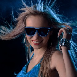 Blue LED EL Sunglasses