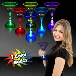 Light Up 7 Ounce Martini Glass
