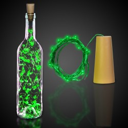 Green Cork String Light Set