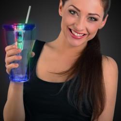 LED Double Wall 16 oz Cola Glass