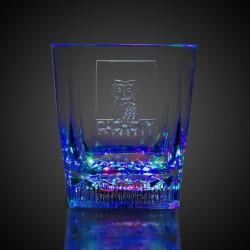 10oz Square Bottom LED Rocks Glass