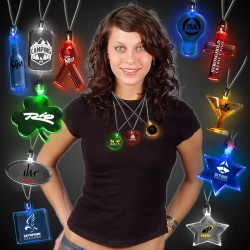 Light Up Pendant Necklaces - Variety of Colors and Shapes