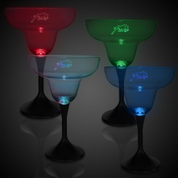 LED Margarita w/ Black Stem & Clear Top