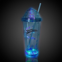 Blue Ice Cream LED Tumbler