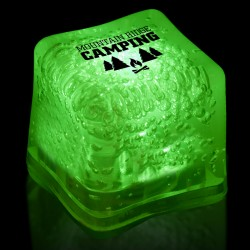 Imprinted GREEN Lited Ice Cubes