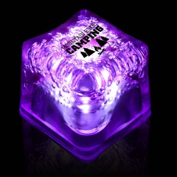 Imprinted PURPLE Lited Ice Cubes