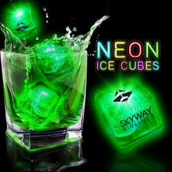 Neon Green Lited Ice Cubes