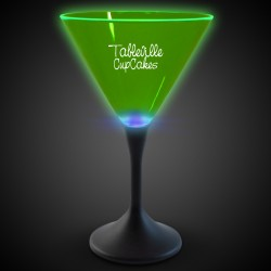 Green Neon LED Martini Glasses