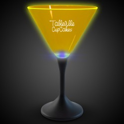 Yellow Neon LED Martini Glasses