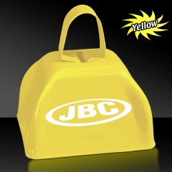 "3"" Yellow Metal  Cowbells"