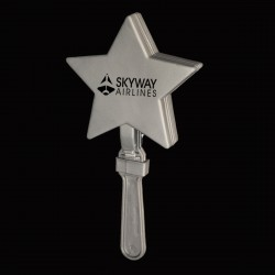 Silver Star Shape Hand Clappers