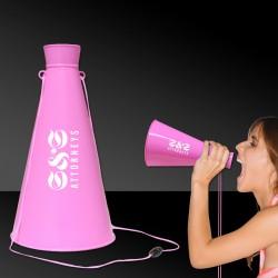 Pink Plastic Megaphones