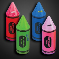 Assorted Color Crayon Savings Banks