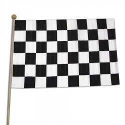 "Checkered Race Flag 12"" x 18"""