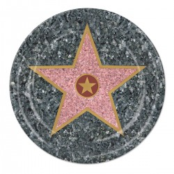 "Walk of Fame Star 7"" Plates- 8 Pack"