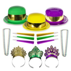 Mardi Gras Party Kit for 24 People