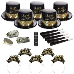 Golden Fantasy New Year's Eve Party Kit for 50 People