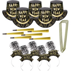 New Year's Gold Star Party Kit for 50