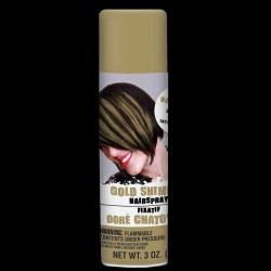 Gold Shimmer Colored Hair Spray