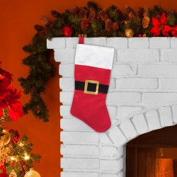 Red Felt Santa Stocking - 18 Inch