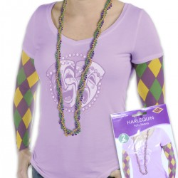 Mardi Gras Party Sleeves