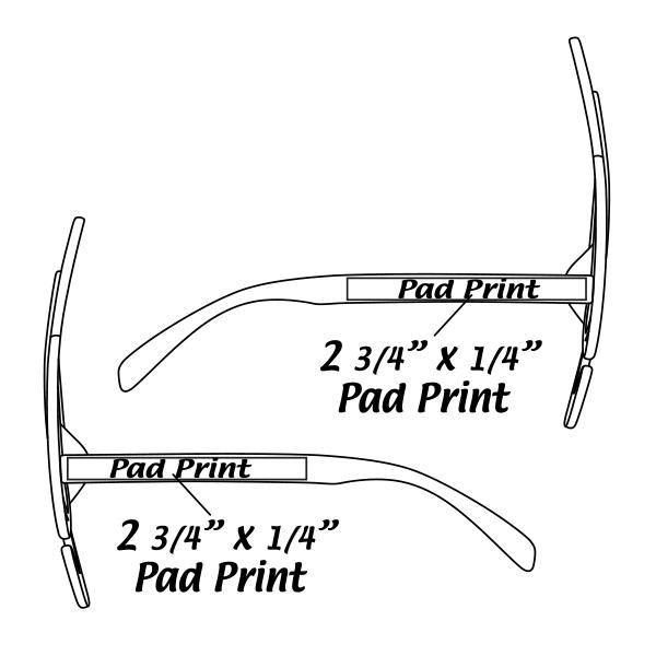 Black Treble Clef Note Glasses